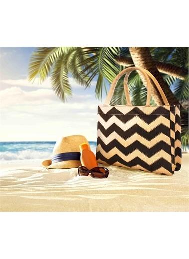The Mia Plaj Çantası 50 x 45 Cm Siyah Siyah